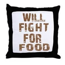 Cool Fight designs Throw Pillow