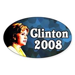 Clinton 2008 Oval Bumper Decal