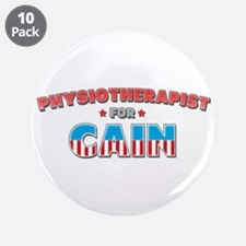 """Physiotherapist for Cain 3.5"""" Button (10 pack)"""