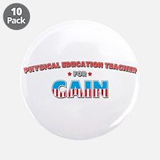"Physical education teacher fo 3.5"" Button (10 pack"