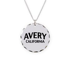 Avery California Necklace Circle Charm