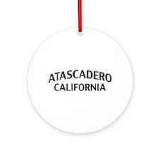 Atascadero California Ornament (Round)