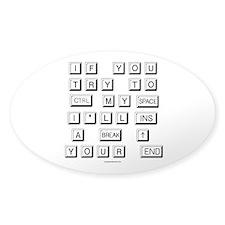 Funny Keyboard Sticker (Oval)
