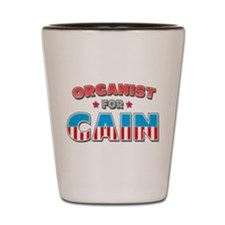 Organist for Cain Shot Glass