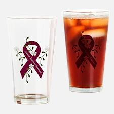 Aneurysm Awareness Ribbon Drinking Glass