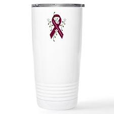 Aneurysm Awareness Ribb Travel Coffee Mug