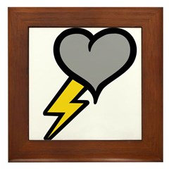 Thunder Heart (weather symbol Framed Tile