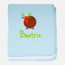 Beatriz the Reindeer baby blanket