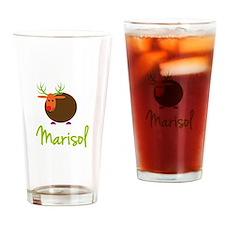 Marisol the Reindeer Drinking Glass