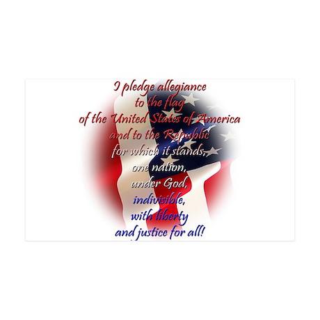 Pledge of allegiance 38.5 x 24.5 Wall Peel