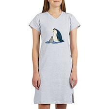 Mommy/Daddy & Baby Penguin Women's Nightshirt
