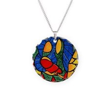 Abstract Nativity Christmas Charm Necklace