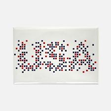 New USA Logo Rectangle Magnet