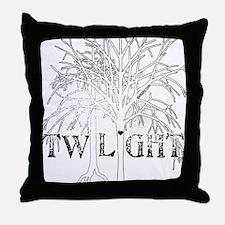 Twilight White Snow by Twibaby Throw Pillow