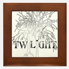 Twilight White Snow by Twibaby Framed Tile