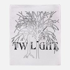Twilight White Snow by Twibaby Throw Blanket
