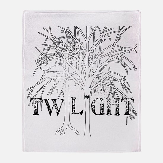 Twilight White Snow by Twibaby Throw Blanket