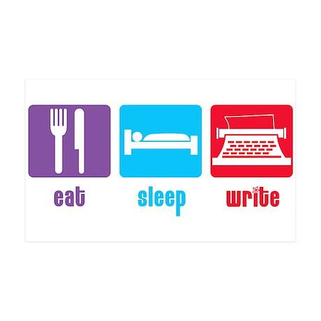 Eat Sleep Write 38.5 x 24.5 Wall Peel