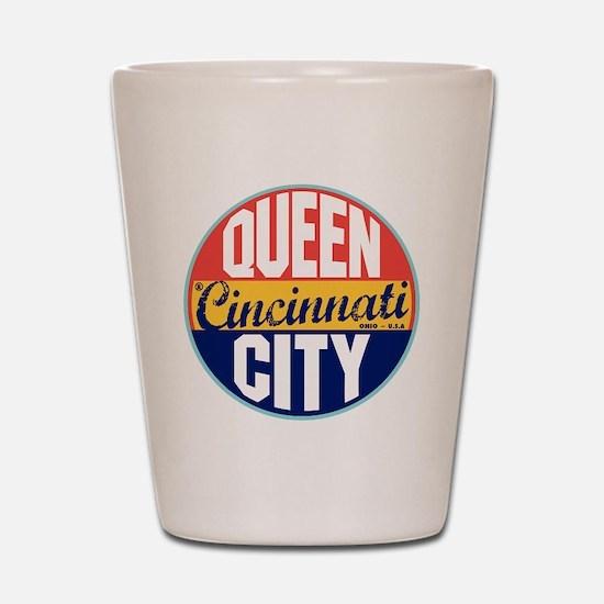 Cincinnati Vintage Label Shot Glass