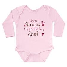 Kids Future Chef Long Sleeve Infant Bodysuit