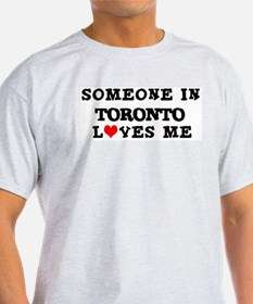 Someone in Toronto Ash Grey T-Shirt