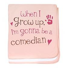 Kids Future Comedian baby blanket