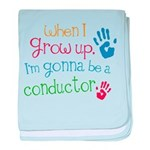 Kids Future Conductor baby blanket