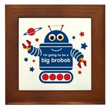 Robot Future Big Brother Framed Tile