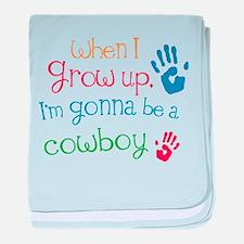 Kids Future Cowboy baby blanket