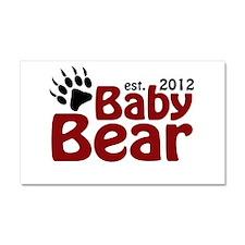 Baby Bear Claw 2012 Car Magnet 20 x 12