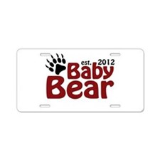 Baby Bear Claw 2012 Aluminum License Plate