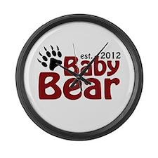 Baby Bear Claw 2012 Large Wall Clock