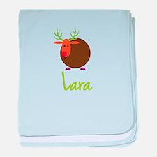 Lara the Reindeer baby blanket