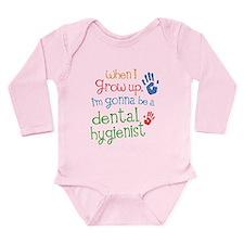 Kids Future Dental Hygienist Long Sleeve Infant Bo