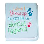 Kids Future Dental Hygienist baby blanket