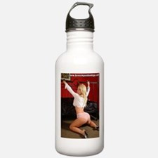 Girl With Hands Through Bed Water Bottle