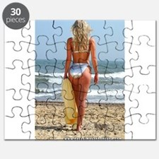 Girl On Beach Puzzle