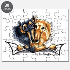Longhair Dachshund Lover Puzzle