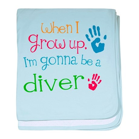 Kids Future Diver baby blanket