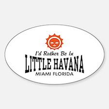 Little Havana Fl Sticker (Oval)