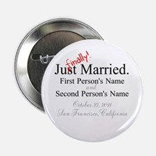 """Finally Married 2.25"""" Button"""