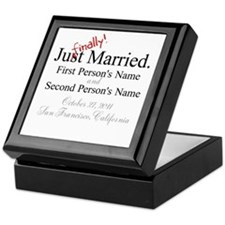 Finally Married Keepsake Box