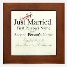 Finally Married Framed Tile