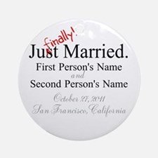 Finally Married Ornament (Round)