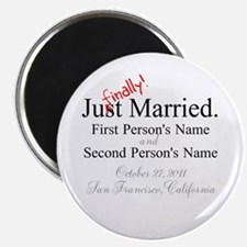 "Finally Married 2.25"" Magnet (10 pack)"
