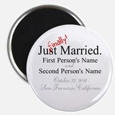 "Finally Married 2.25"" Magnet (100 pack)"