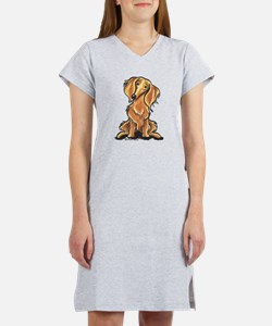 Red Dachshund Lover Women's Nightshirt