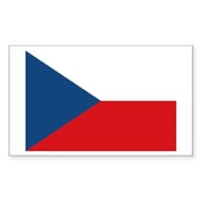 Flag of The Czech Republic Rectangle Decal