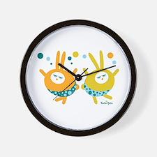 Dancing bunnies Wall Clock