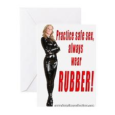 Practice Safe Sex Always Wear Greeting Cards (Pk o